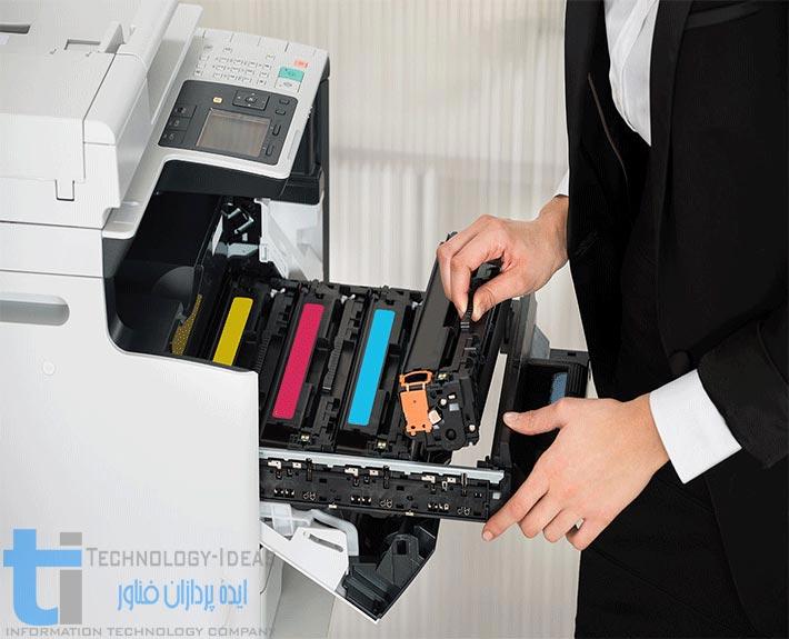 شارژ انواع کارتریج لیزری رنگی در محل