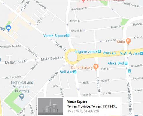 شارژ کارتریج در میدان ونک